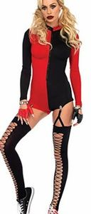 Leg avenue Harleyquinn Red and Black Romper